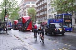 Verkeersweg in Londen Stock Afbeelding
