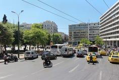 Verkehr Athen Stockbild