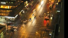 Verkehr auf Überfahrt stock footage