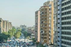 Verkehr auf den Straßen von Kairo lizenzfreie stockfotos