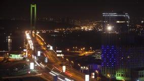 Verkehr auf der Brücke stock video footage