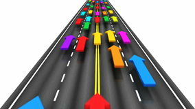 Verkehr auf der Straße stock abbildung