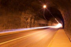 Verkehr auf einem Tunnel in Chile lizenzfreies stockbild