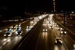 Verkehr auf einer Datenbahn Stockbild