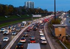 Verkehr auf Gardiner Express Stockfotografie