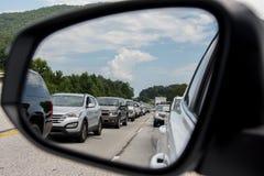 Verkehr auf Südnach 2017 Eklipse US 441 stockfotografie