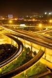 Verkehr auf Verzweigung stockfotografie