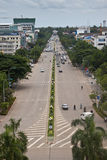 Verkehr auf Weg Xang-Allee Lizenzfreie Stockbilder