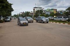 Verkehr auf Weg Xang-Allee Lizenzfreie Stockfotografie