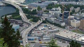 Verkehr in Bergen Norway stock video footage