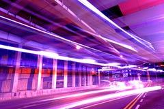 Verkehr bis zum Nacht Stockfoto