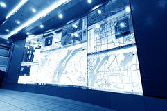 Verkehr Control Center Stockbild