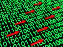 Verkehr der binären Daten Stockfoto