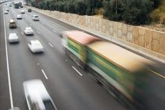 Verkehr in der großen Geschwindigkeit Stockbild