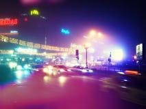 Verkehr in der Mitte von Bukarest Stockbild