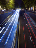 Verkehr in der Stadt Stockfotografie