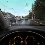 Verkehr in der Stadt stockfoto