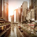 Verkehr in der Stadt nachts Lizenzfreie Stockfotografie