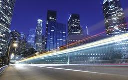 Verkehr durch Los Angeles Lizenzfreie Stockfotografie