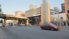 Verkehr in Gold Coast Chicago stock video
