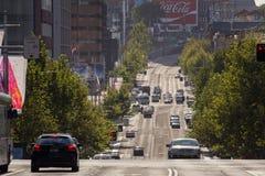 Verkehr in Königen Cross, Sydney lizenzfreies stockfoto