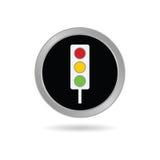 Verkehr ligh Ikone im schwarzen Vektor Lizenzfreie Stockbilder