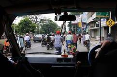 Verkehr in Mandalay, Myanmar lizenzfreies stockbild