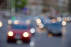 Verkehr mit bokeh Effekt stockfotos