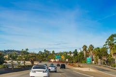 Verkehr nach Norden gehend auf Autobahn 101 Stockfotografie