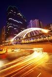 Verkehr nachts Stockfoto