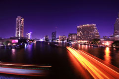 Verkehr nachts Stockfotos