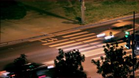 Verkehr nachts stock video