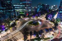 Verkehr nachts lizenzfreie stockbilder