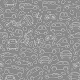 Verkehr (nahtlose vektortapete) Stockfotografie
