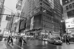 Verkehr in New York City Midtown Manhattan Stockbild