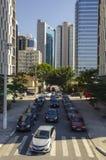 Verkehr in Sao-Paulo lizenzfreie stockbilder