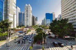 Verkehr in Sao-Paulo stockbild