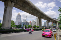 Verkehr am Stadtzentrum in Bangkok, Thailand Stockfotos