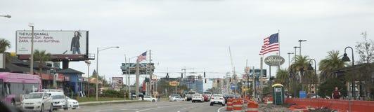Verkehr und Bau in Orlando stockfoto