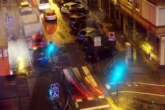 Verkehr und Geschwindigkeit ithe Abend von Granada 4 Lizenzfreie Stockbilder