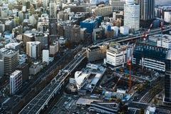 Verkehr und Stadt in Yokohama, Japan lizenzfreies stockbild
