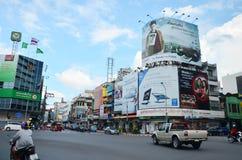 Verkehr und Transport an Gimyong-Markt Stockbild