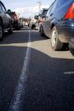 Verkehr unterstützt am Durchschnitt Stockbilder