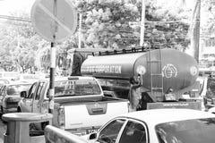 Verkehr verstopft und Afroamerikaner stockfotos