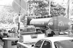 Verkehr verstopft und Afroamerikaner lizenzfreie stockfotos
