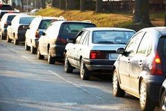 Verkehr während der Hauptverkehrszeit Stockfotos