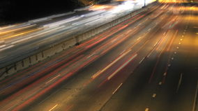 Verkehrs-Autobahn-Nacht Timelapse stock video footage
