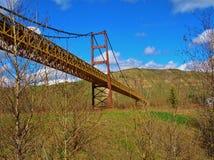Verkehrs-Brücke über Herbstlaub Lizenzfreies Stockbild