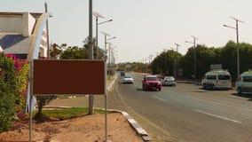 Verkehrs-Straßen-Auto-Durchlauf-Leute, Ägypten stock footage