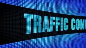 Verkehrs-Umwandlungs-Text, der LED-Wand-Anzeigetafel-Zeichen-Brett in einer Liste verzeichnet stock video footage